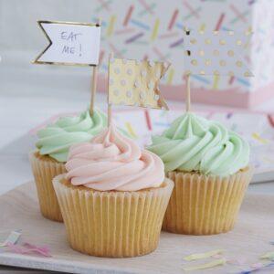 Διακοσμητικά πουά toppers για cake και cupcakes Pick and Mix 10τεμ.
