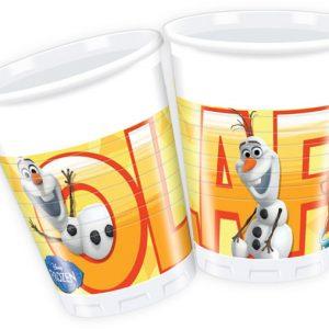 Ποτήρια πλαστικά 200ml Olaf 8τεμ.