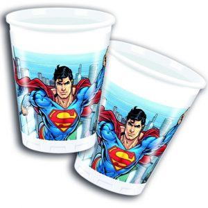 Πλαστικά Ποτήρια Superman 200ml 8τεμ.