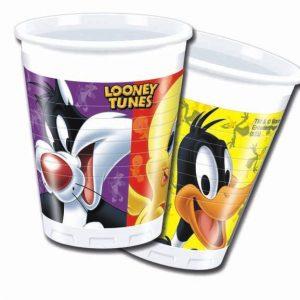 Ποτήρια πλαστικά 200ml Looney Tunes 8τεμ