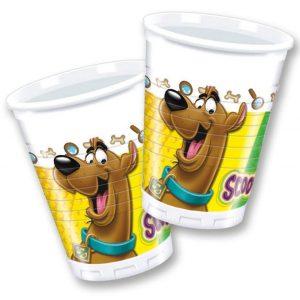 Ποτήρια πλαστικά Scooby Doo 8τεμ.