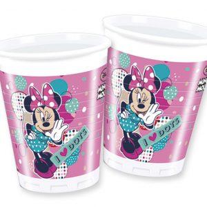 Ποτήρια Minnie Dots 200ml 8τεμ.