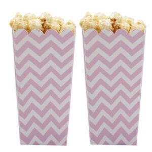 Popcorn boxes Chevron Divine Pink 8τεμ.
