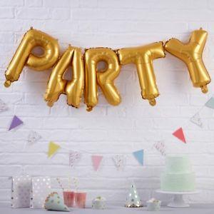 """Μπαλόνι Foil """"PARTY"""" χρυσό 14"""""""