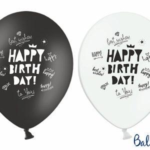 """Μπαλόνι """"Happy Birthday!"""" σε 2 σχέδια 6τεμ. 30εκ."""