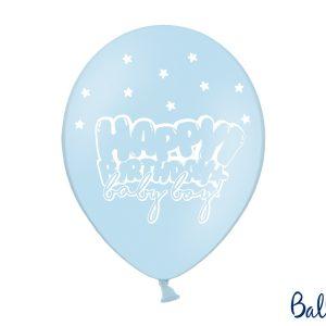 """Μπαλόνι Γαλάζιο """"Happy Birthday baby boy"""" 1τεμ. 30εκ."""