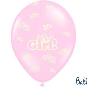 """Μπαλόνι Ροζ Παστέλ """"It's a Girl"""" 1τεμ. 30εκ."""