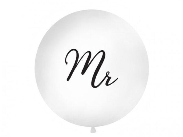 """Μπαλόνι Λευκό """"Mr"""" 1τεμ. 1μ."""