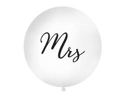 """Μπαλόνι Λευκό """"Mrs"""" 1τεμ. 1μ."""