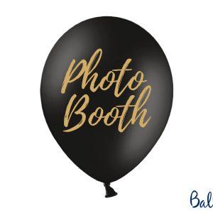"""Μπαλόνι Μαύρο με Χρυσό """"Photo Booth"""" 1τεμ. 30εκ."""