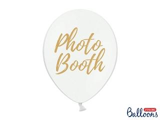 """Μπαλόνι Λευκό με Χρυσό """"Photo Booth"""" 1τεμ. 30εκ."""