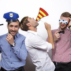 """Χάρτινα Photobooth Props """"Αστυνομικός"""" 4τεμ."""