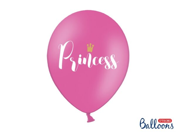 """Μπαλόνι Φούξια """"Princess"""" Λευκό 1τεμ. 30εκ."""