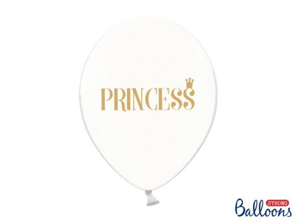 """Μπαλόνι Διάφανο με Χρυσό """"Princess"""" 1τεμ. 30εκ."""