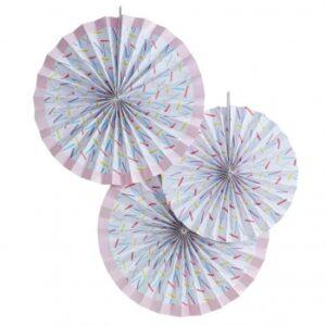 Κρεμαστές  Διακοσμητικές βεντάλιες sprinkles Pick and Mix 3 τεμ