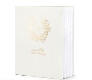 Βιβλίο Ευχών Γάμου Ανοιχτό Γκρί 22 σελ.