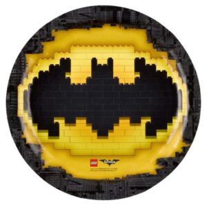 Πιάτα φαγητού 23εκ. Lego Batman 8τεμ.