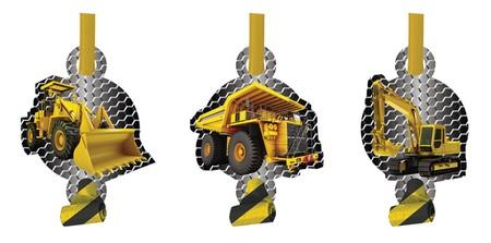 Αναπτυσσόμενες Σφυρίχτρες Construction Birthday Zone 8τεμ