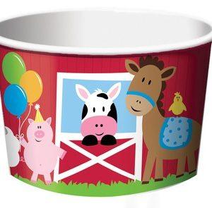 Χάρτινο Κύπελο Παγωτού Farmhouse Fun 6τεμ