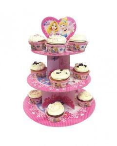 Χάρτινη βάση για κεκάκια 3 ορόφων Disney Princess Glamour 1τεμ.