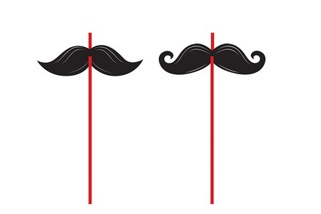Καλαμάκια Mustache Μadness 6τεμ