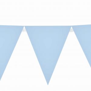 Γιρλάντα Τρίγωνα Σημαιάκια Πλαστική Σιελ 29εκ Χ 3,6μ  1τεμ