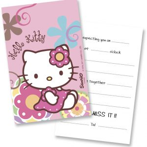 Προσκλήσεις Helloo Kitty Bamboo
