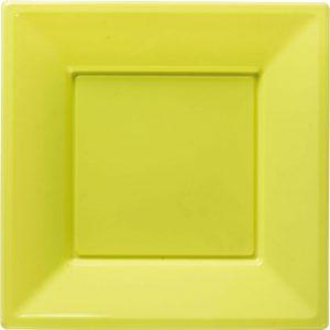 Πιάτα γλυκού τετράγωνα 18εκ λαχανί