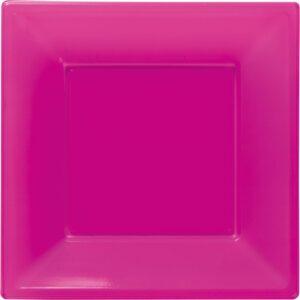 Πιάτα γλυκού τετράγωνα 18εκ φούξια