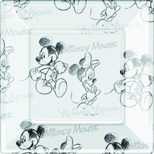 Πιάτα φαγητού πλαστικά 23εκ. Mickey & Minnie 8τεμ.