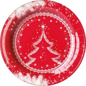 Πιάτα φαγητού 23εκ. Snow Tree 8τεμ.