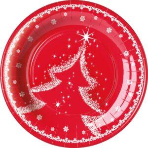 Πιάτα γλυκού 18εκ. Snow Tree 8τεμ.