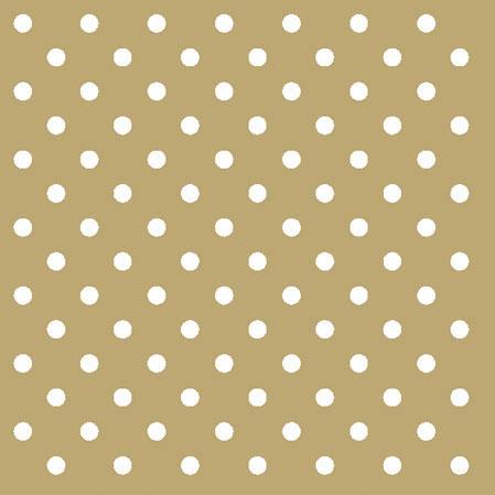 Χαρτοπετσέτες Γλυκού Dots Gold 25x25cm 20τεμ.