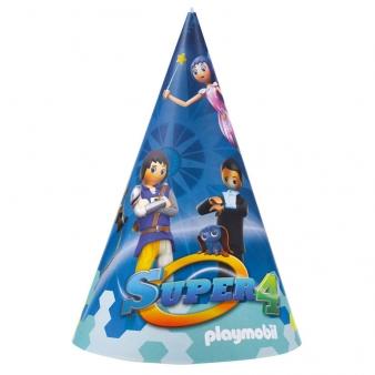 Καπελάκια χάρτινα Playmobil Super4 8τεμ.