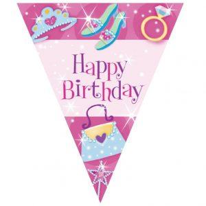"""Γιρλάντα σημαιάκια """"HAPPY BIRTHDAY"""" Princess"""