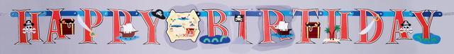 Γιρλάντα γράμματα Πειρατικό Happy Birthday 1,8mX15,2cm