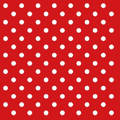 Χαρτοπετσέτες Φαγητού Dots Red 33x33 cm 20τεμ.
