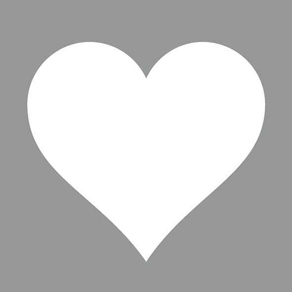 Χαρτοπετσέτες Φαγητού Heart Grey 33x33cm 20τεμ.