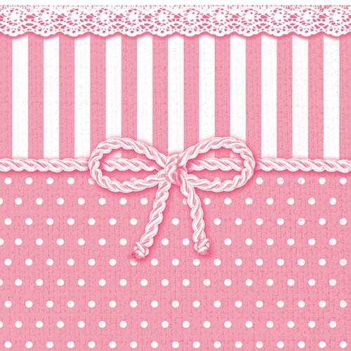 Χαρτοπετσέτες Φαγητού Bow Pink 33x33 cm 20τεμ.