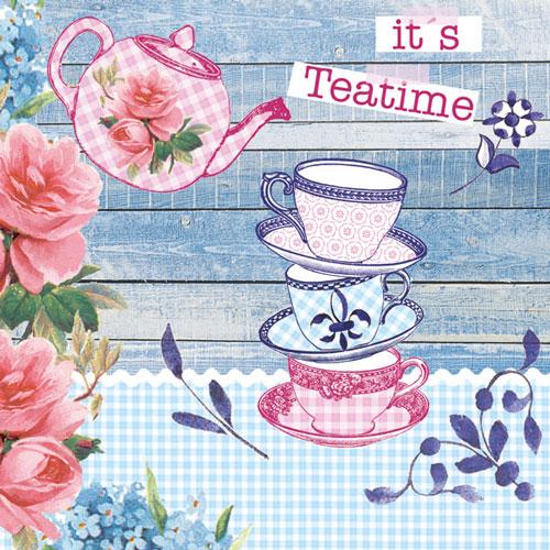 Χαρτοπετσέτες Φαγητού Its Tea Time 33x33 cm 20τεμ.
