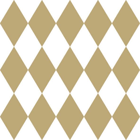 Χαρτοπετσέτες Φαγητού Harlequin Gold 33x33cm 20τεμ.