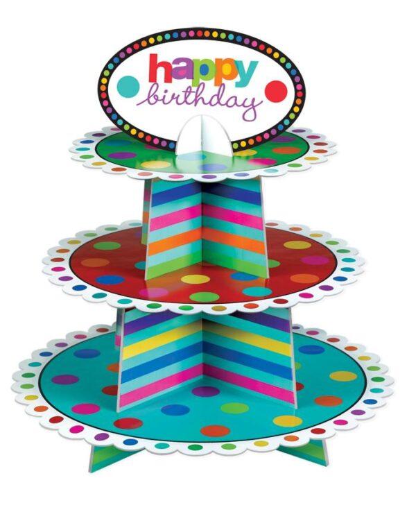 Βάση για κεκάκια Birthday Dots & Stripes
