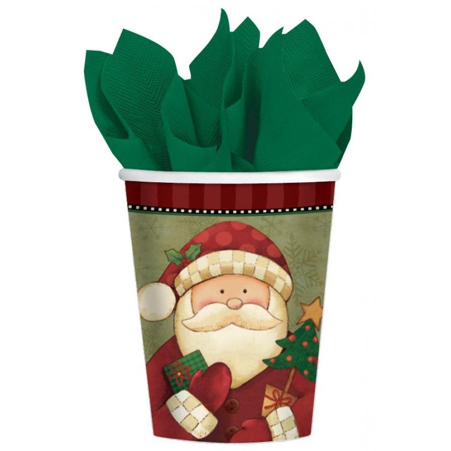 Ποτήρια 266ml Cozy Santa 8 τεμ