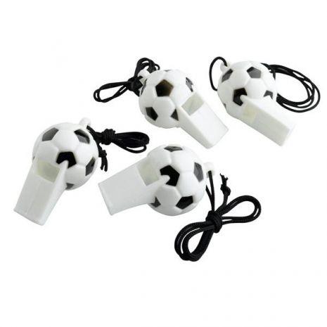 Σφυρίχτρες πλαστικές Ποδόσφαιρο 4τεμ.