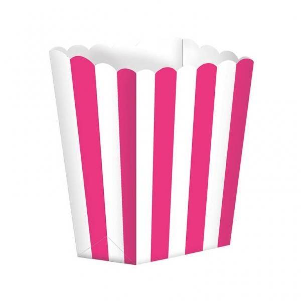 Κουτί Pop-Corn Ριγέ Φούξια 6,3x13.4x3.8cm 5τεμ.