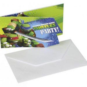 Προσκλήσεις Party Χελωνονιντζάκια 6τεμ