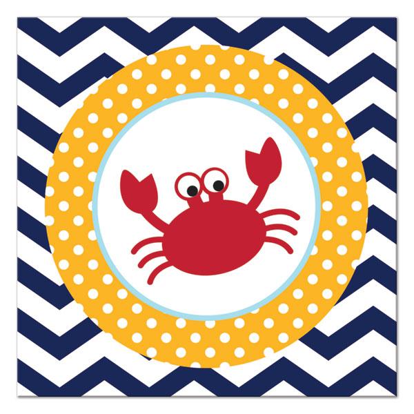 Χαρτοπετσέτες Γλυκού Ahoy Matey Crab 24.8 x 24.7cm 18τεμ.