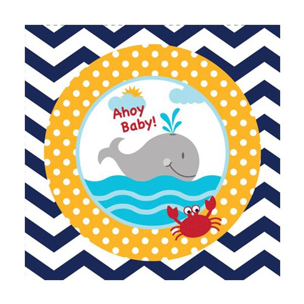 Χαρτοπετσέτες Γλυκού Ahoy Matey Baby 24.8 x 24.7cm 18τεμ.