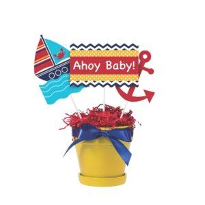 Επιτραπέζια centerpiece sticks  Ahoy Matey 22,86-26,67-33,02 cm 3τεμ