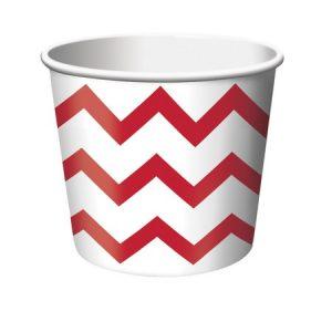 Κύπελλο Παγωτού Chevron Kόκκινο 266ml 6τεμ
